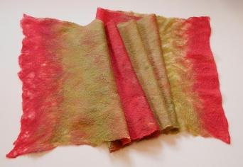 Fine merino and silk scarf